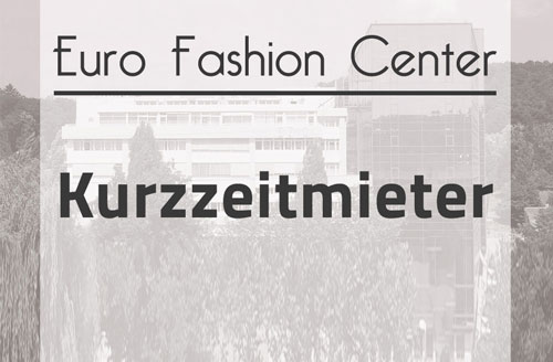 Kurzzeitmieter im Euro-Fashion-Center